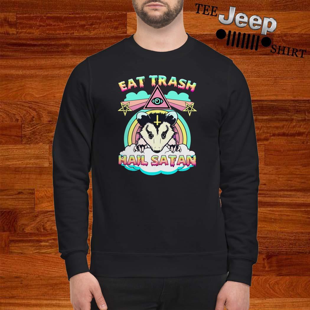 Possum Eat Trash Hail Satan Sweatshirt