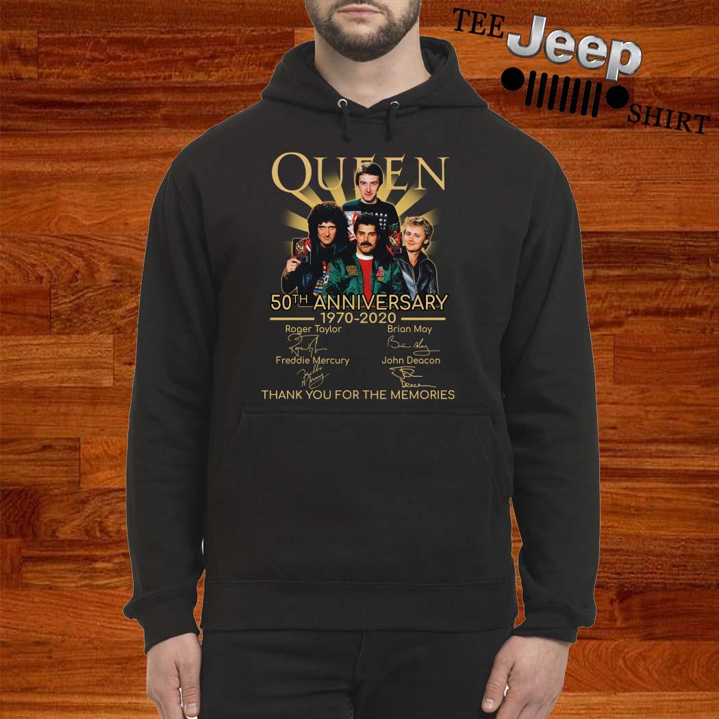 Queen 50th Anniversary 1970 2020 Thank You For The Memories Signatures Hoodie
