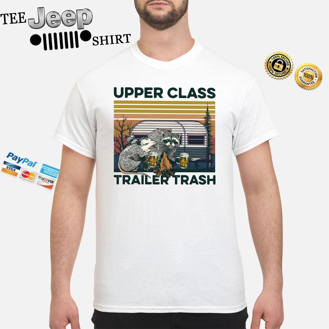 Raccoon And Possum Upper Class Trailer Trash Vintage Shirt