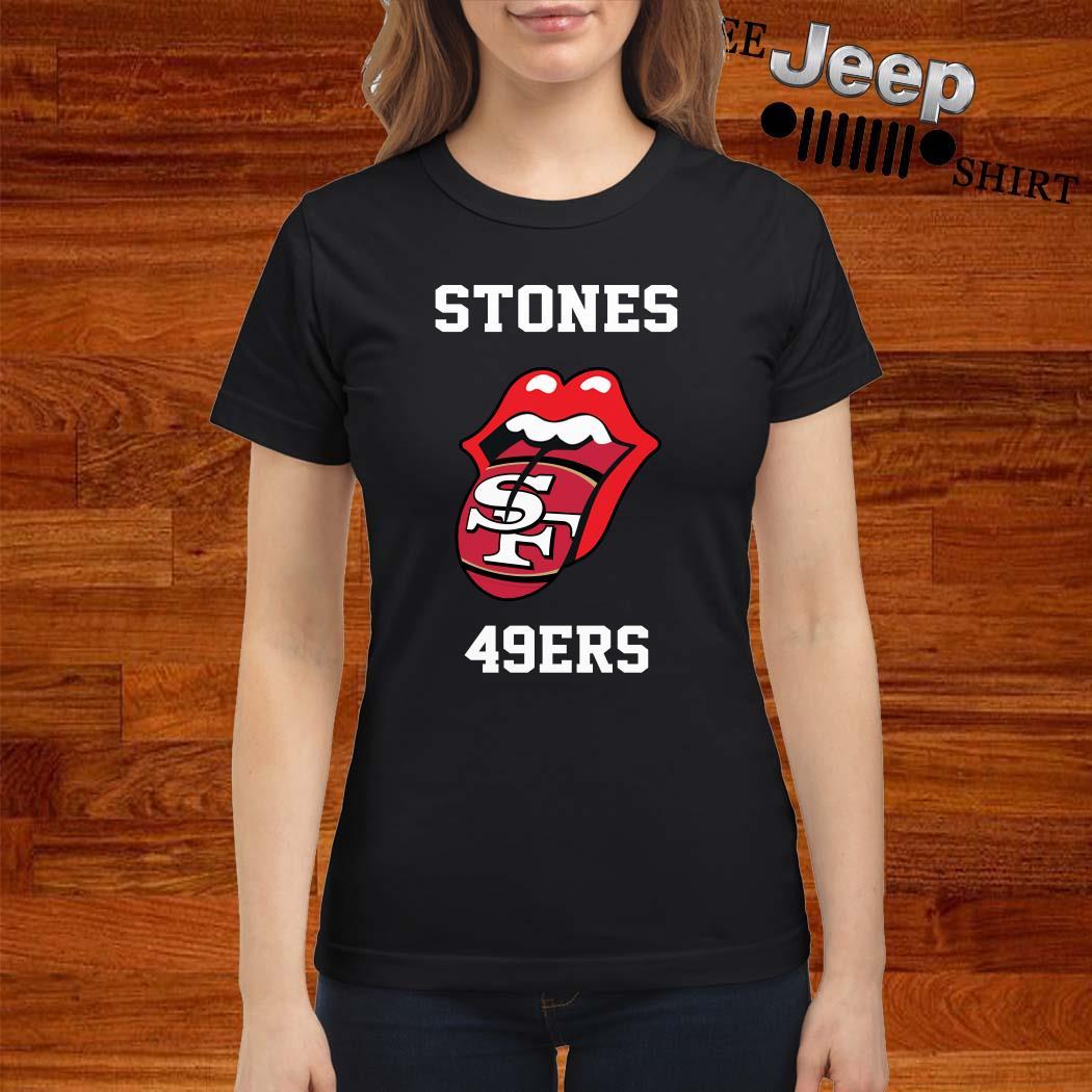 Rolling Stones San Francisco 49ers Ladies Shirt