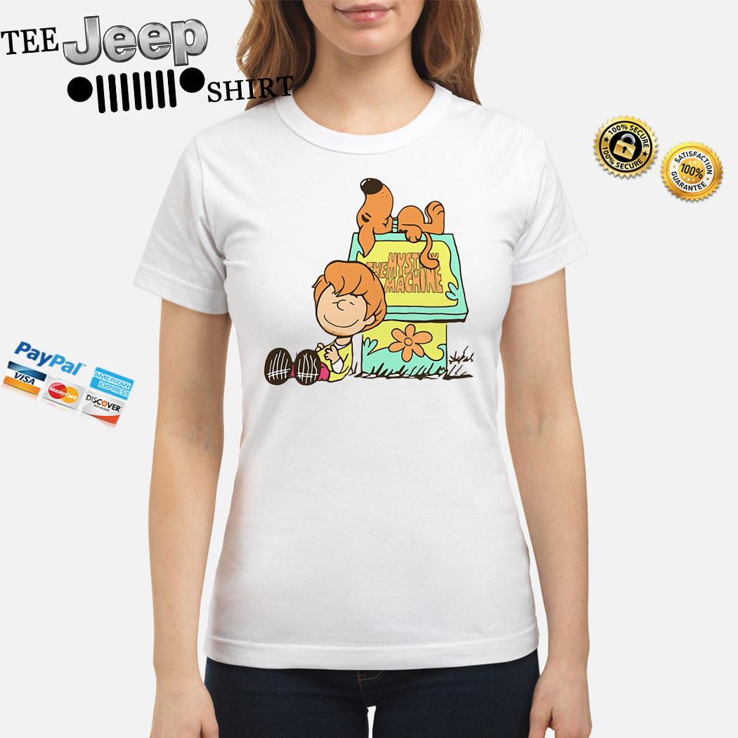 Scooby Doo And Shaggy Rogers The Mystery Machine Ladies Shirt