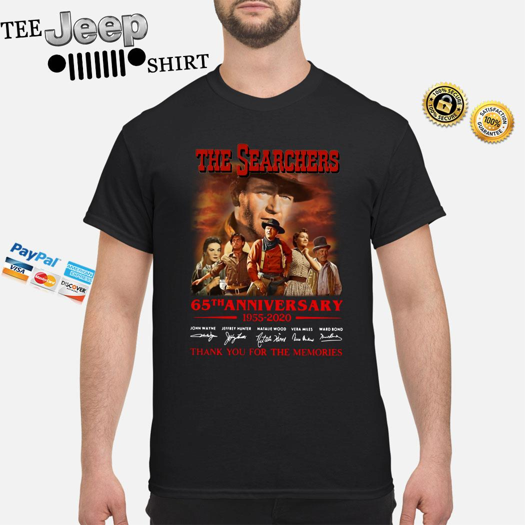 The Searchers 65th Anniversary 1955 2020 Thank You For The Memories Shirt