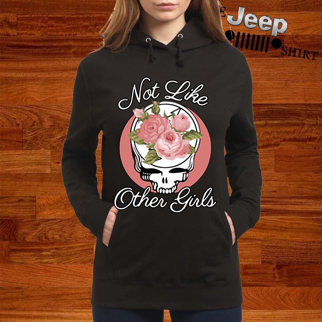 Skull Flower Not Like Other Girls Shirt women-hoodie