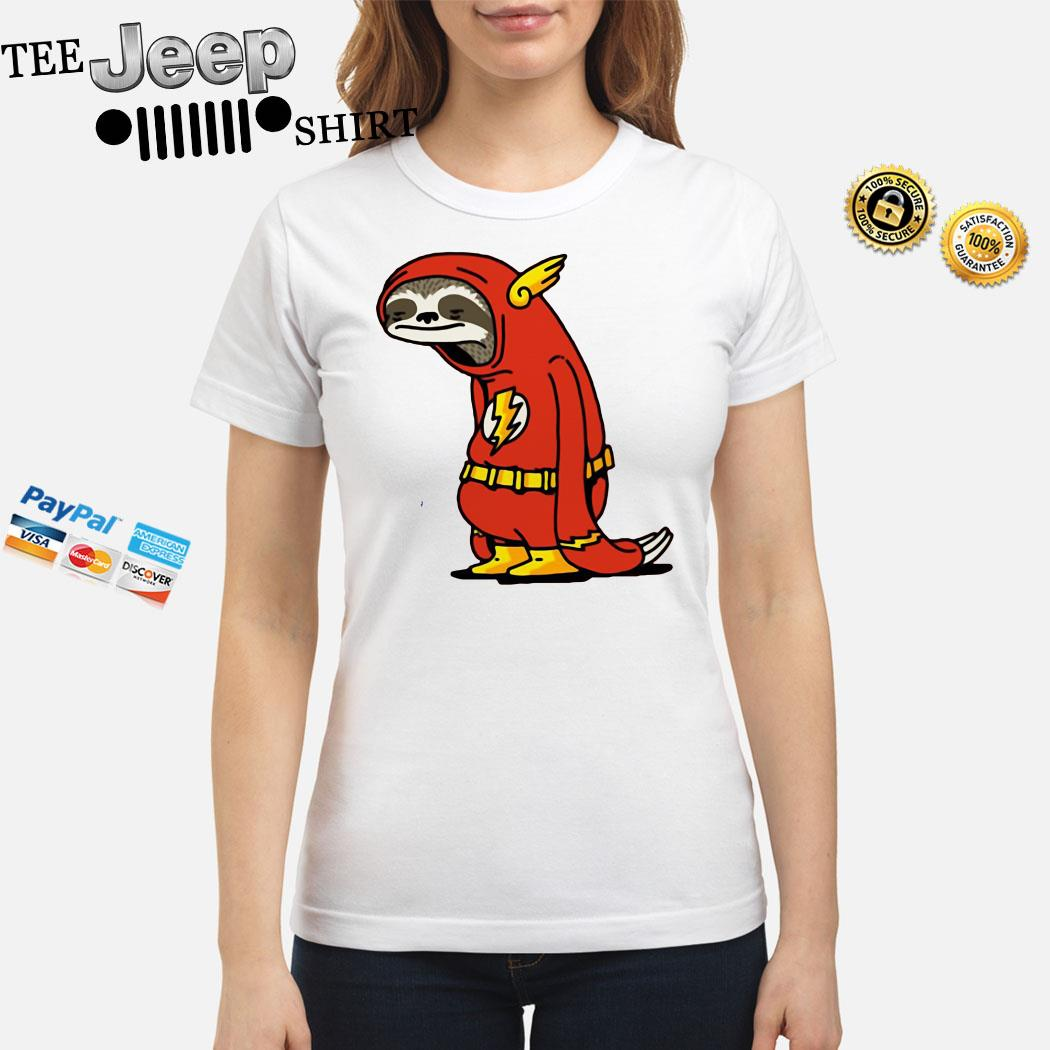 Sloth Flash Sticker Ladies Shirt