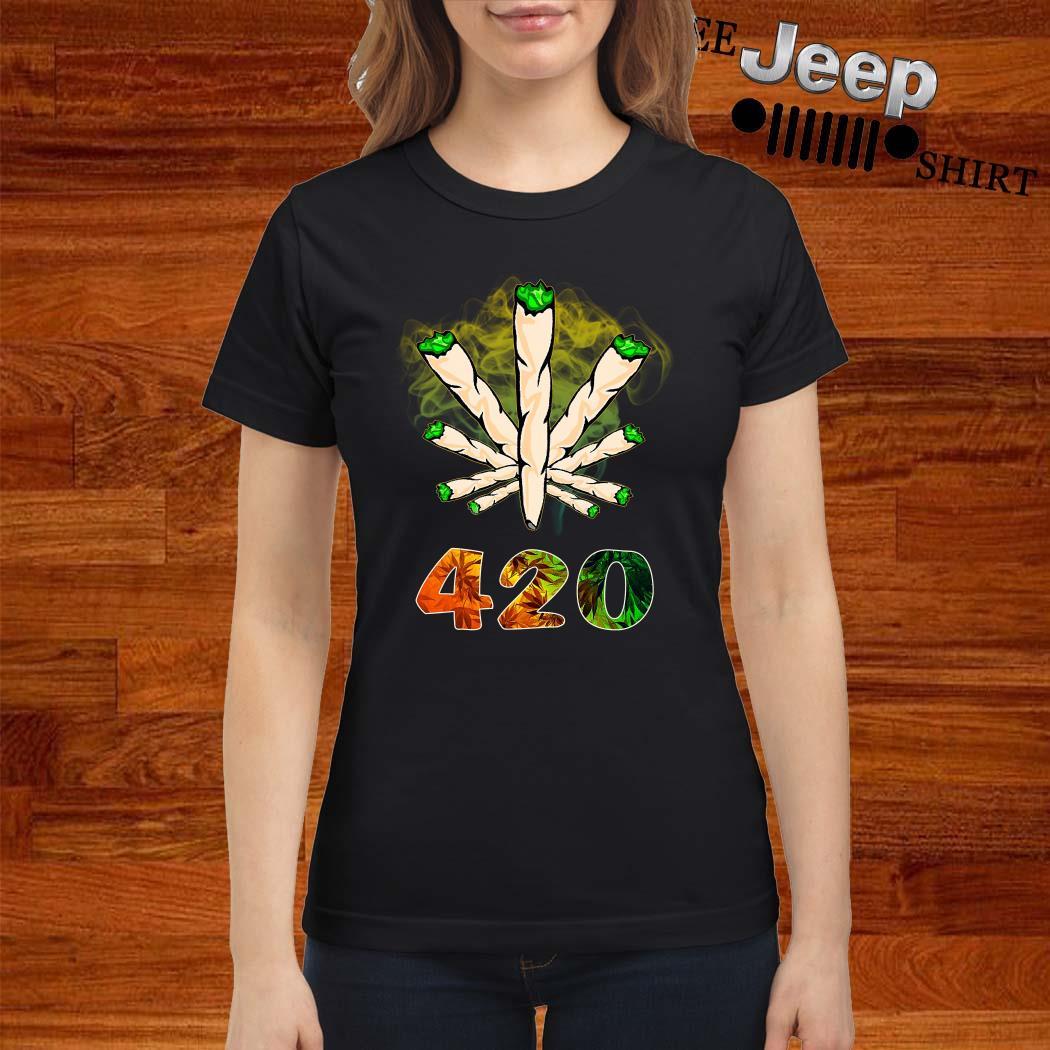 The Smoke Circle 420 Weed Ladies Shirt