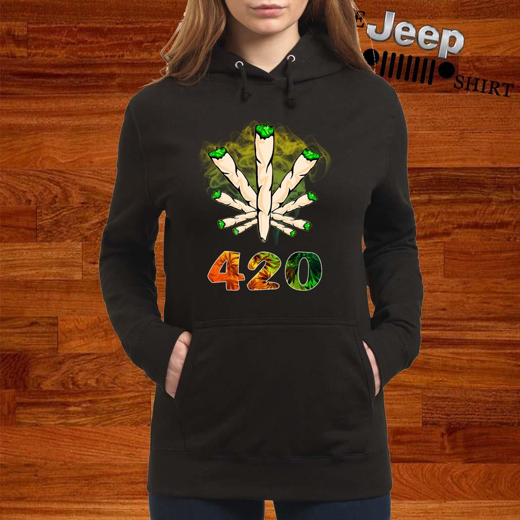 The Smoke Circle 420 Weed Women Hoodie