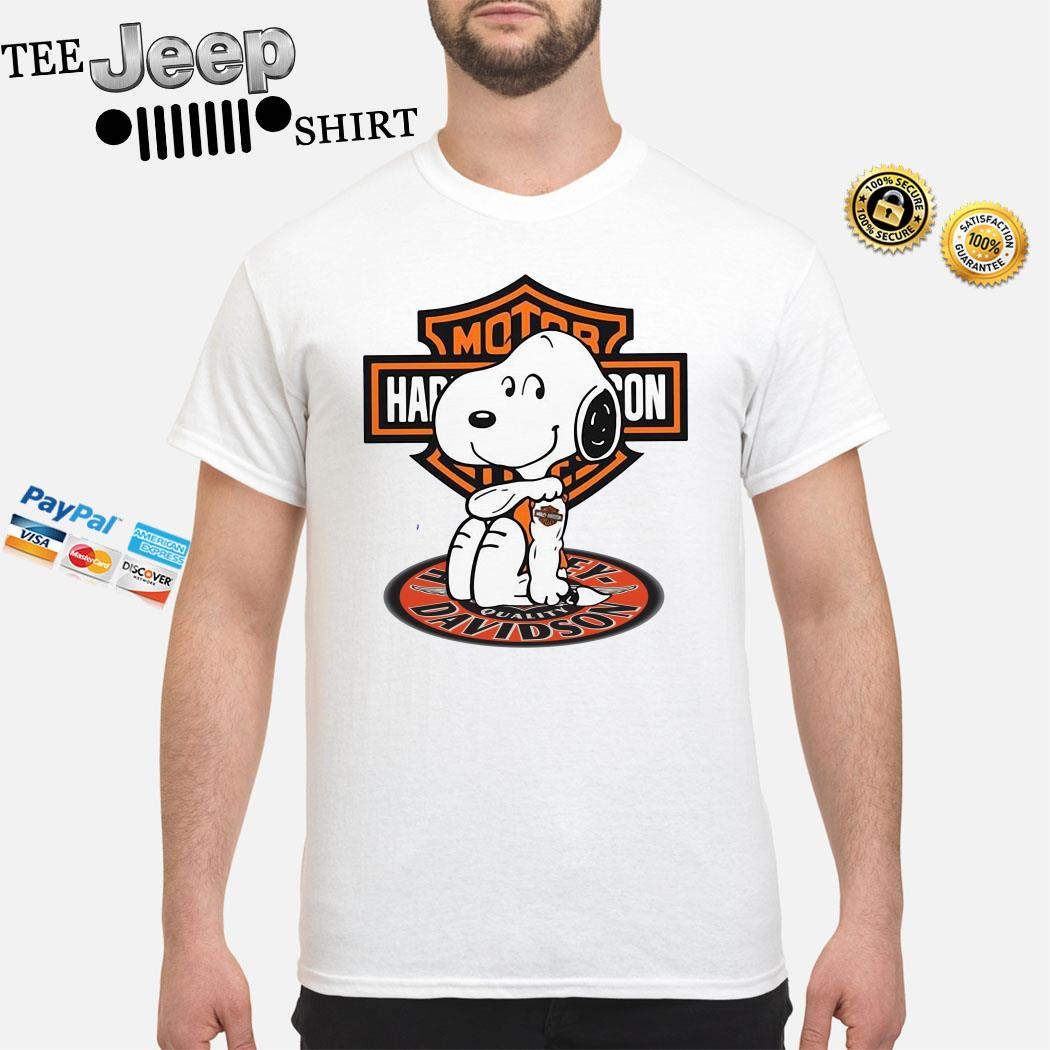 Snoopy Tattoo Motor Harley Davidson Shirt