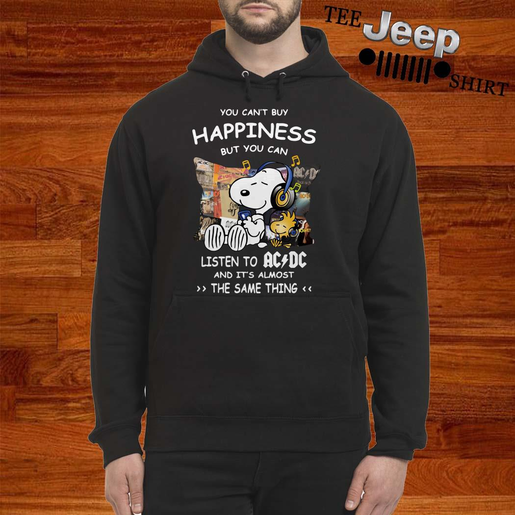 Snoopy And Woodstock You Can't Buy Happiness But You Can Listen To ACDC Hoodie
