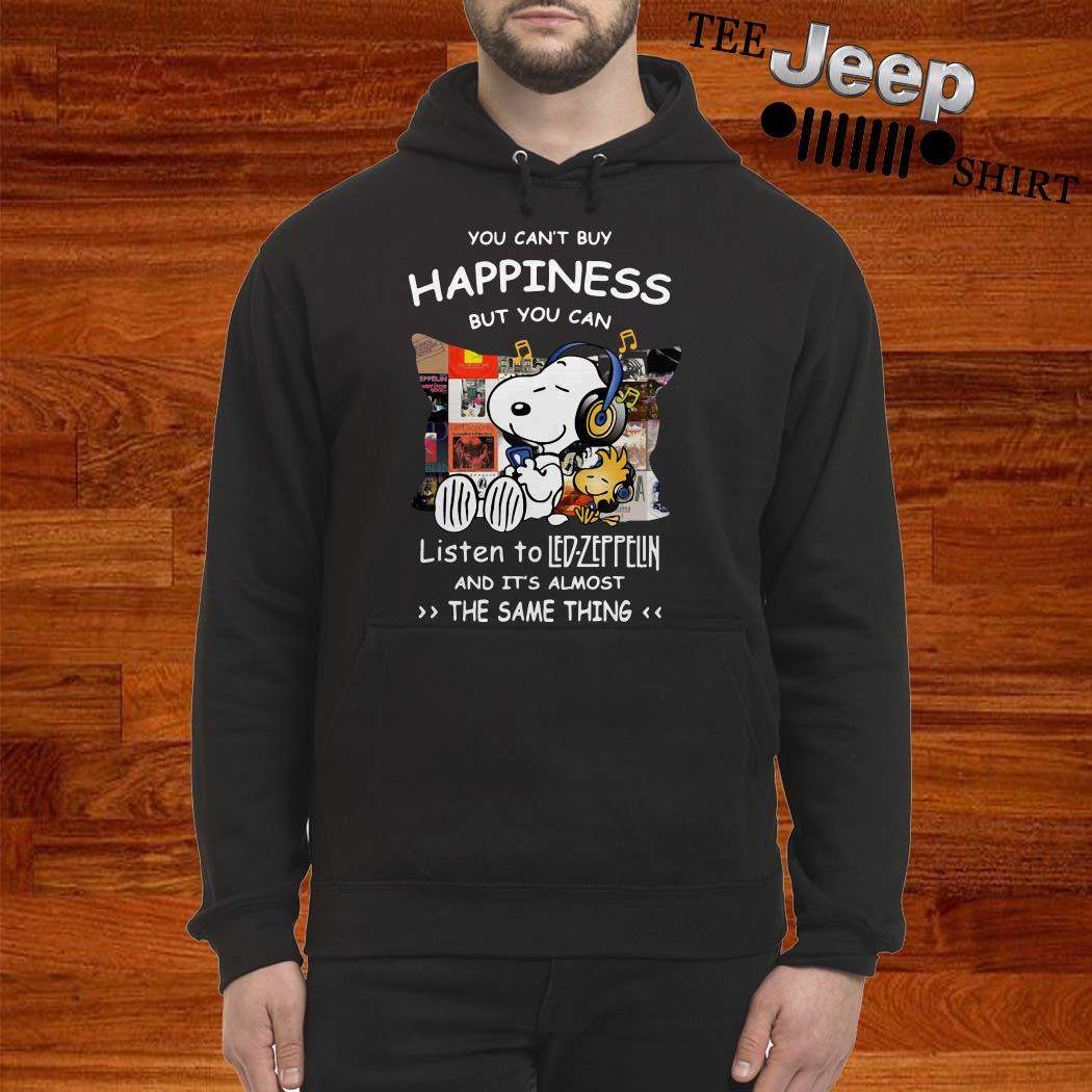 Snoopy And Woodstock You Can't Buy Happiness But You Can Listen To Led-zeppelin Hoodie