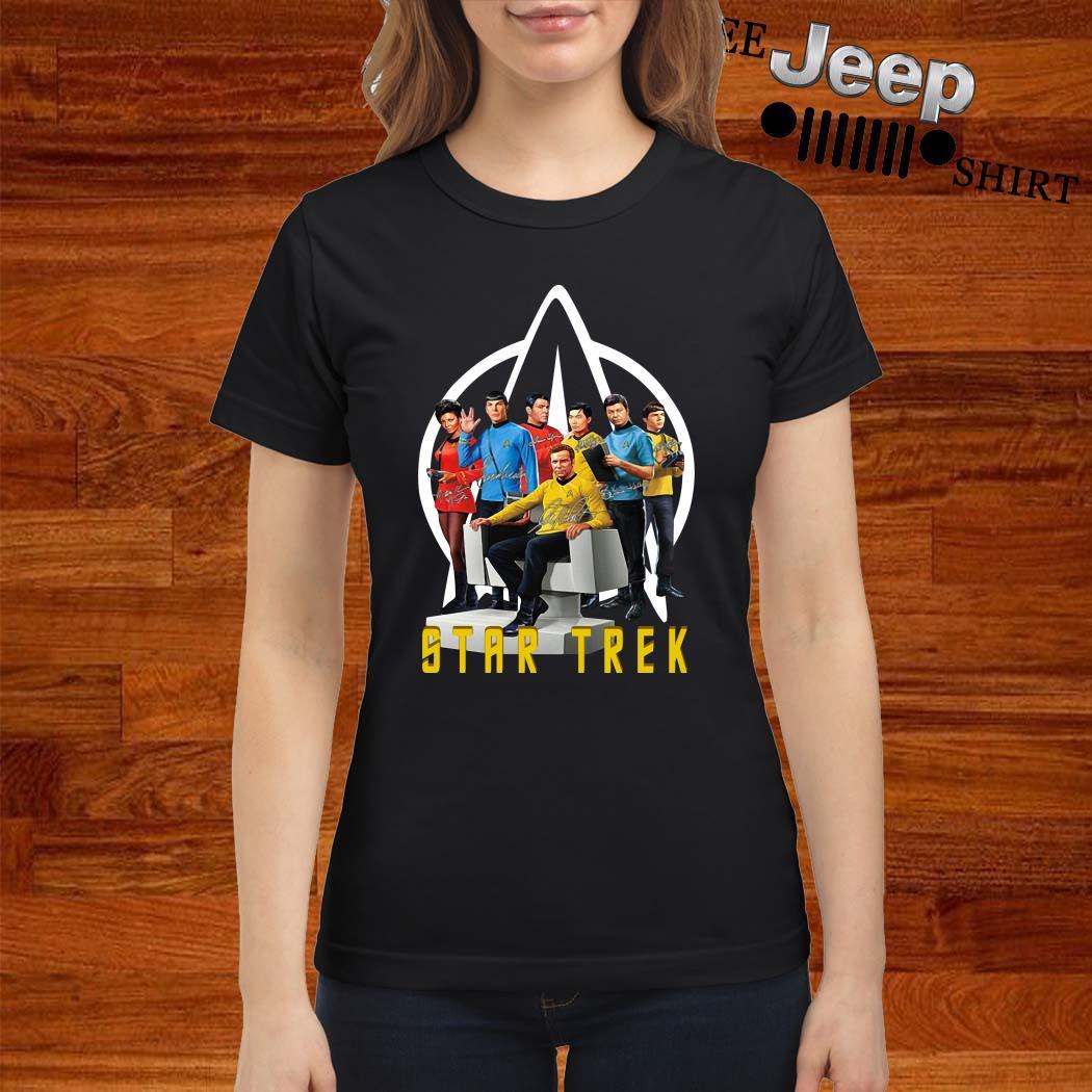 Star Trek Characters Signatures Ladies Shirt