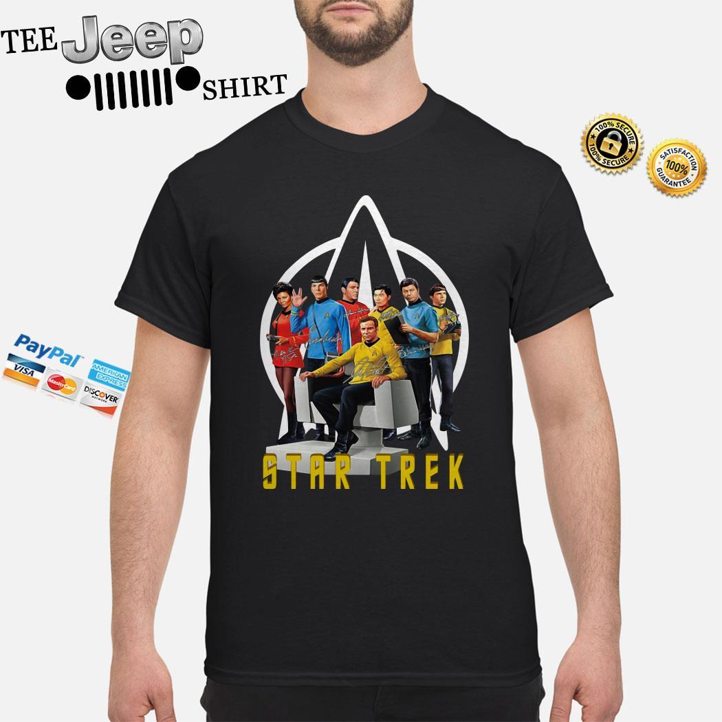 Star Trek Characters Signatures Shirt