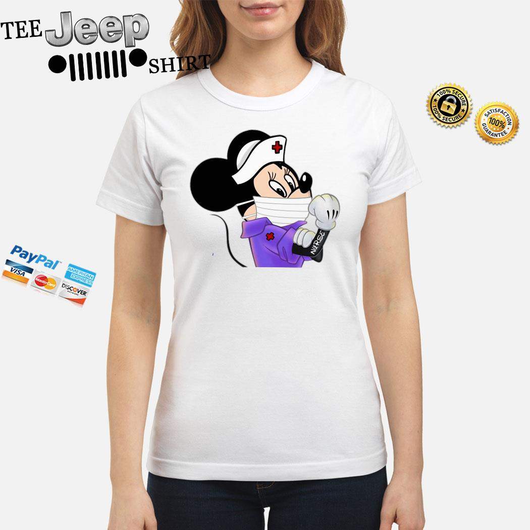 Strong Minnie Mouse Nurse Ladies Shirt