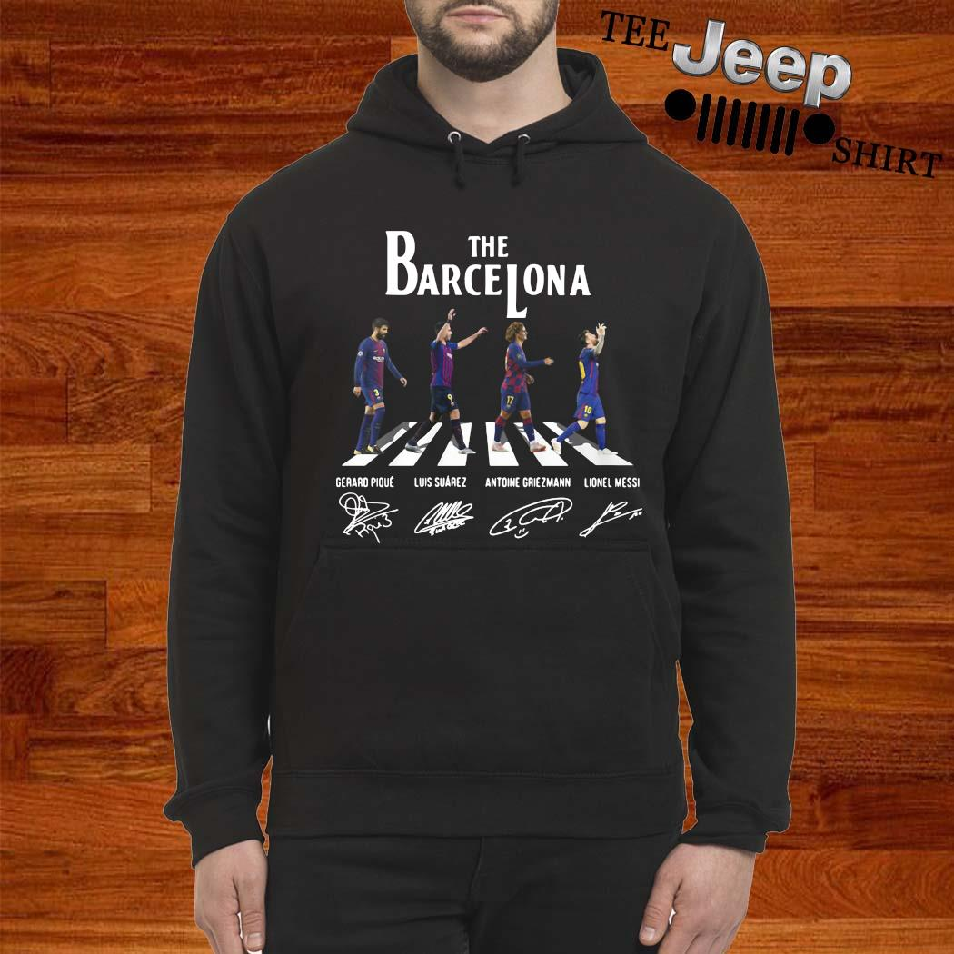 The Barcelona Abbey Road Signatures Shirt hoodie