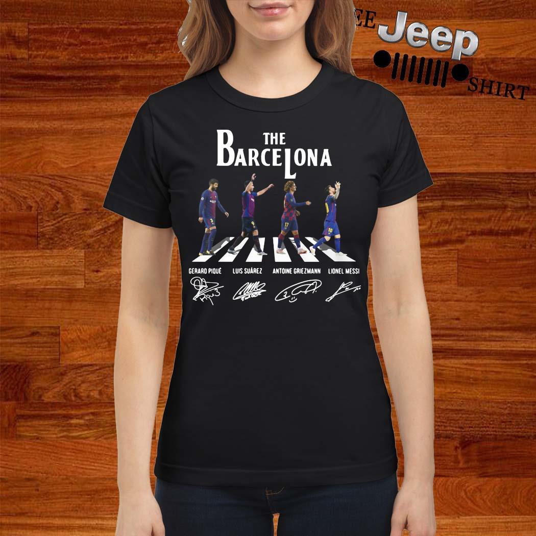 The Barcelona Abbey Road Signatures Shirt ladies-shirt