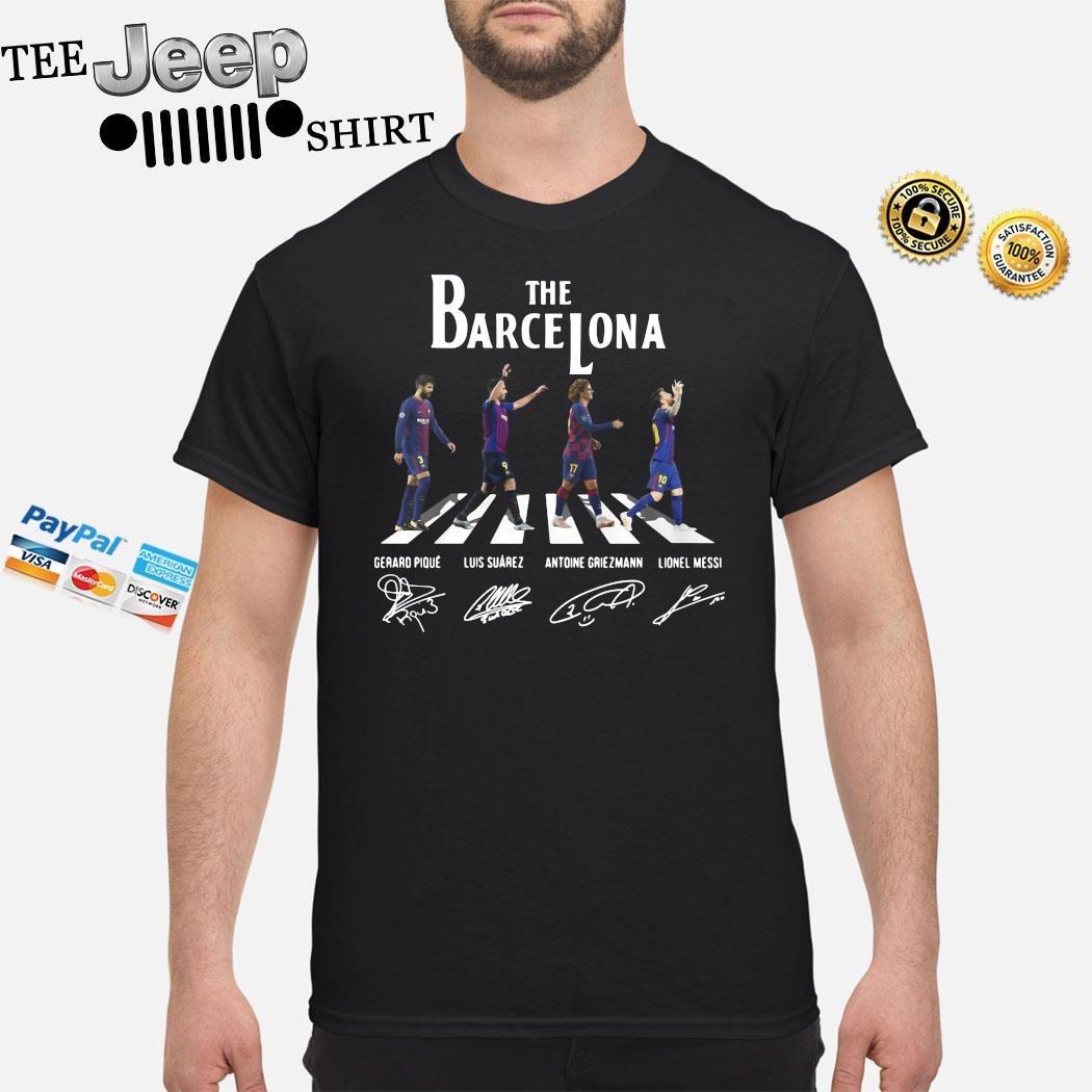 The Barcelona Abbey Road Signatures Shirt