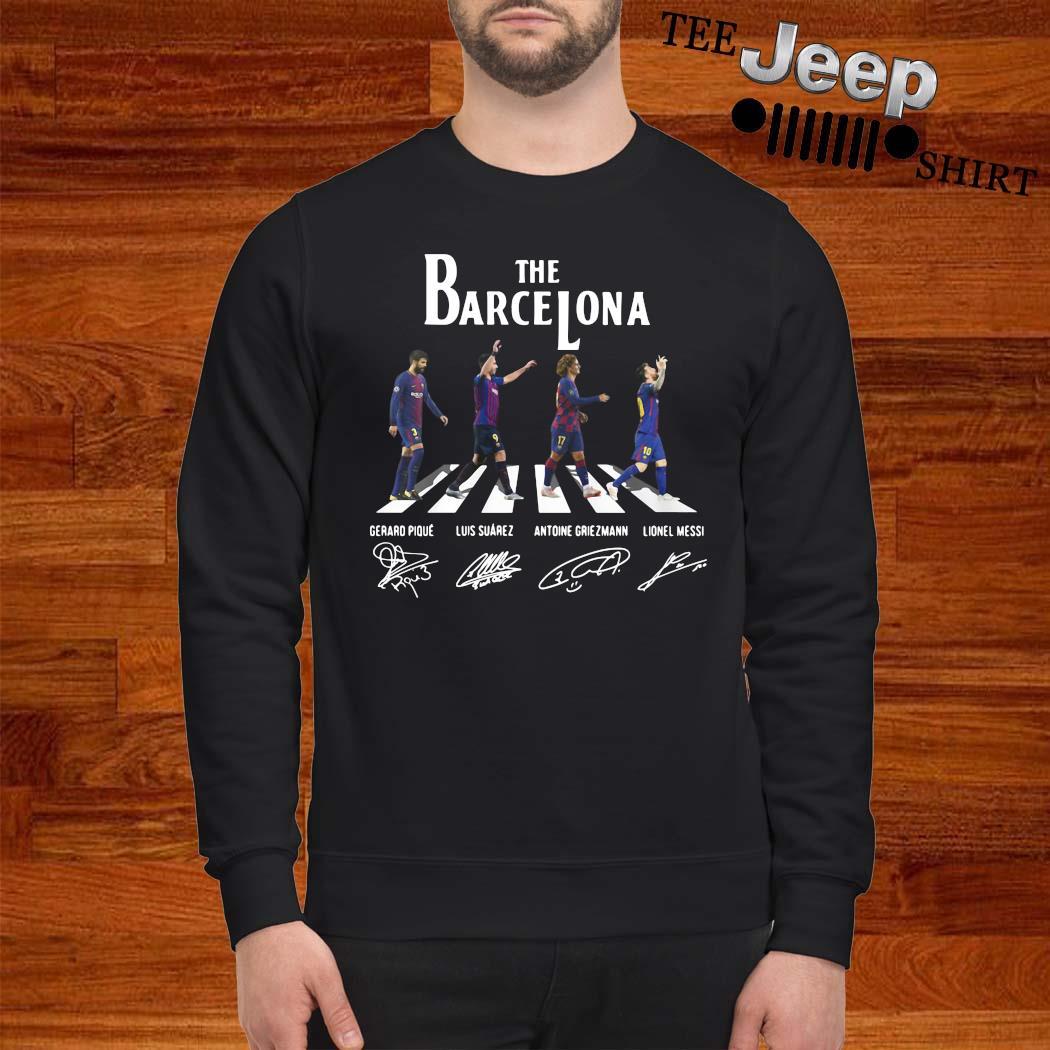 The Barcelona Abbey Road Signatures Shirt sweatshirt
