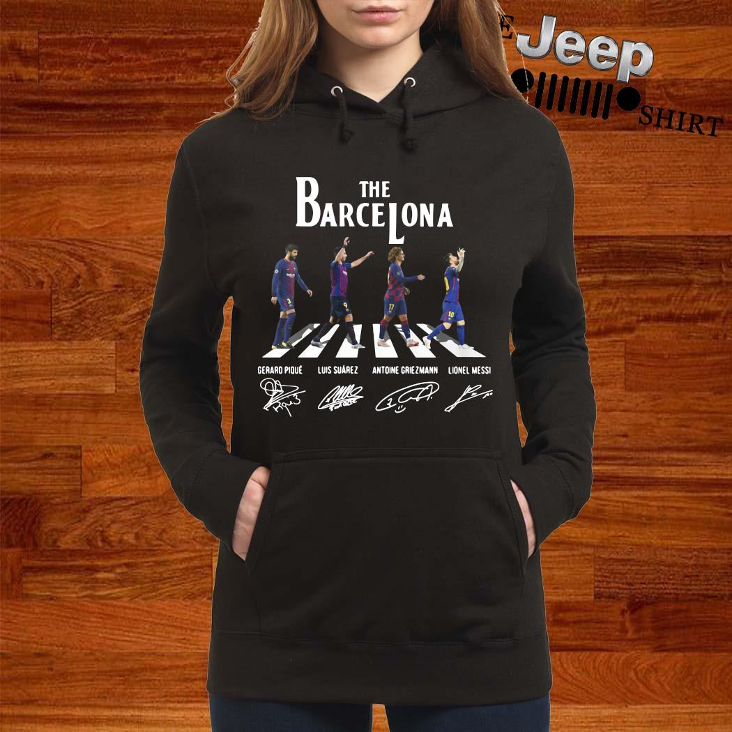 The Barcelona Abbey Road Signatures Shirt women-hoodie
