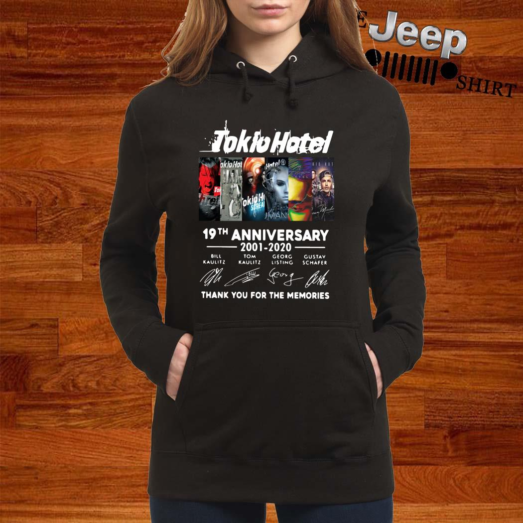 Tokio Hotel 19th Anniversary 2001 2020 Thank You For The Memories Hoodie