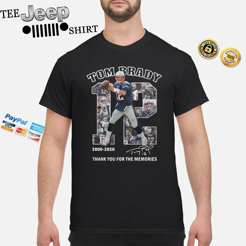 Tom Brady 2000 2020 Thank You For The Memories Signature Shirt