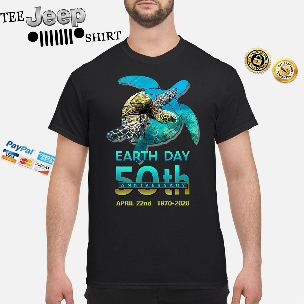 Turtles Earth Day 50th Anniversary April 22nd 1970 2020 Shirt