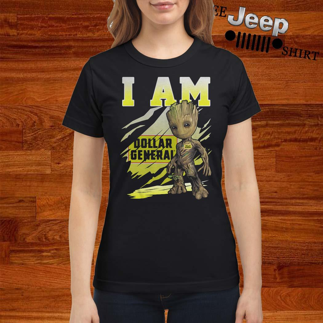 Baby Groot I Am Dollar General Shirt ladies-shirt