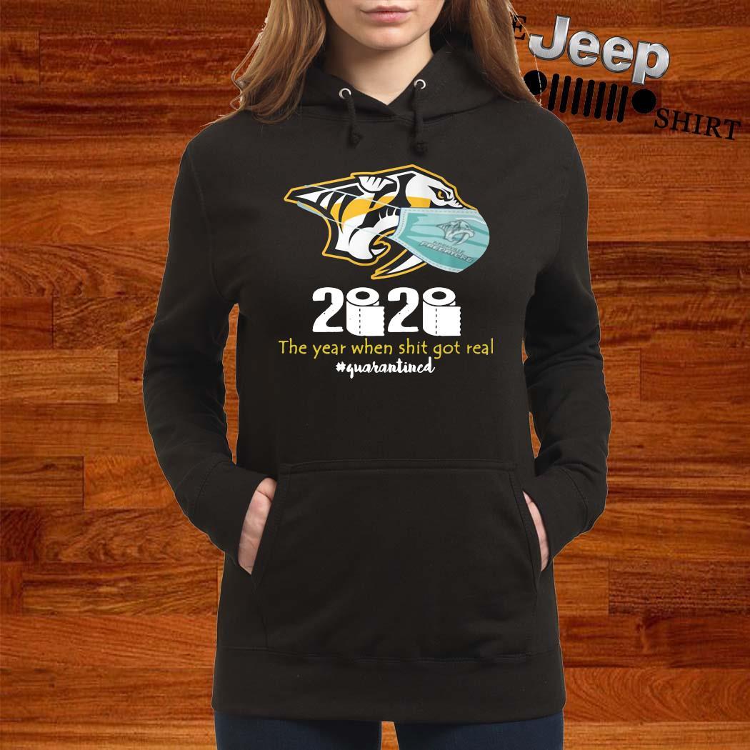 Nashville Predators Mask 2020 The Year When Shit Got Real Quarantined Shirt women-hoodie