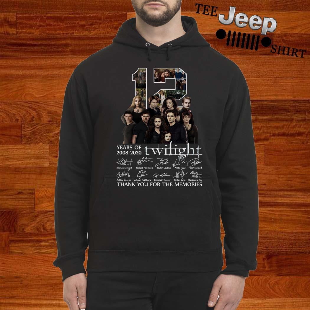 12 Years Of 2008 2020 Twilight Thank You For The Memories Shirt hoodie