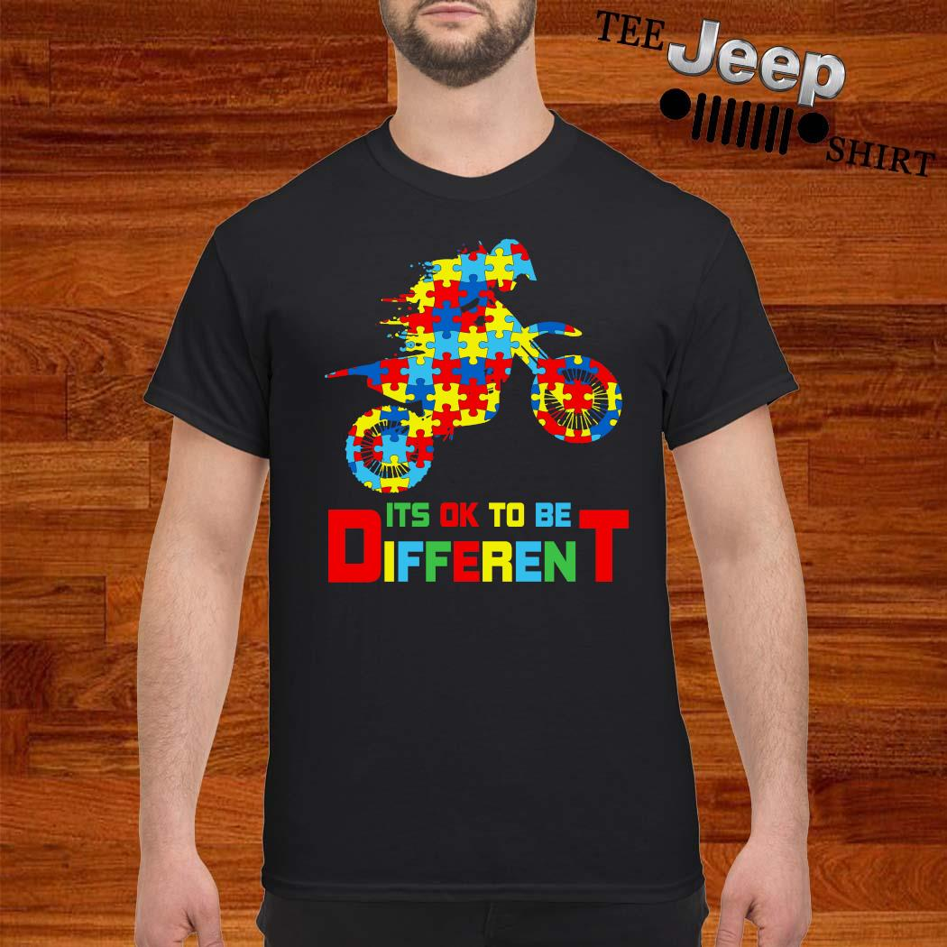 Autism Motorbike It's Ok To Be Different Shirt
