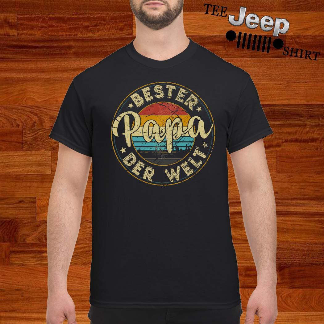 Bester Papa Der Welt Vintage Shirt