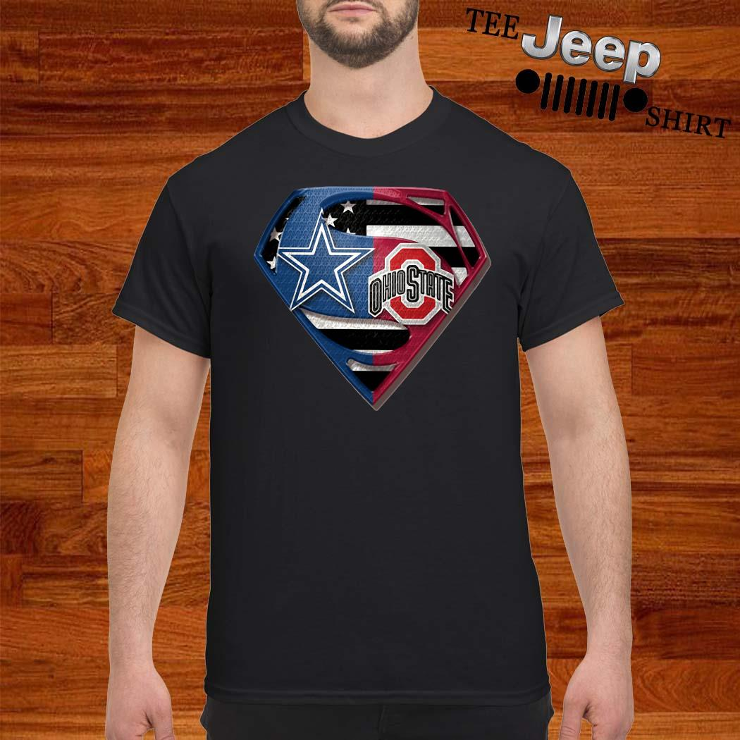 Dallas Cowboy And Ohio State Superman Shirt
