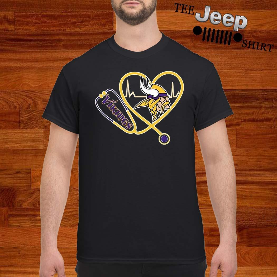 Heartbeat Nurse Love Minnesota Vikings Shirt