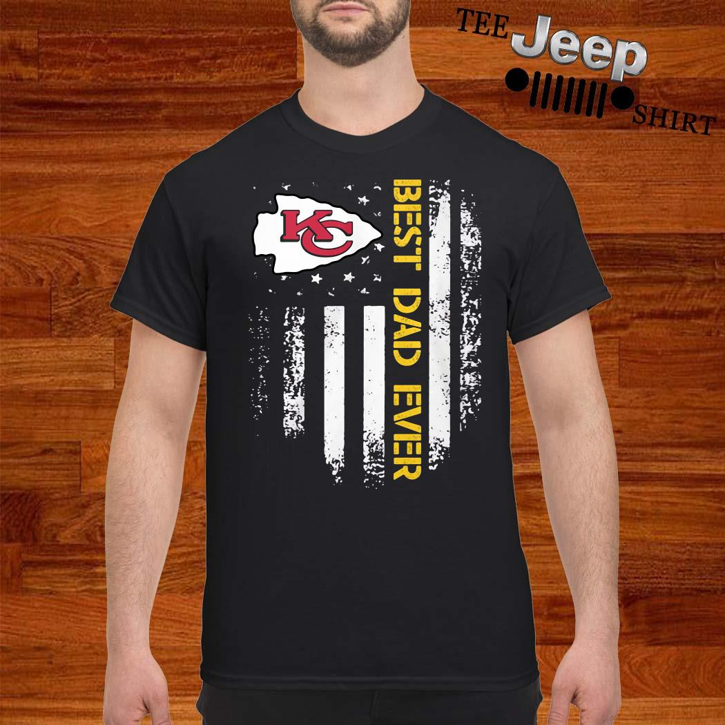 Kansas City Chiefs Best Dad Ever American Flag Shirt