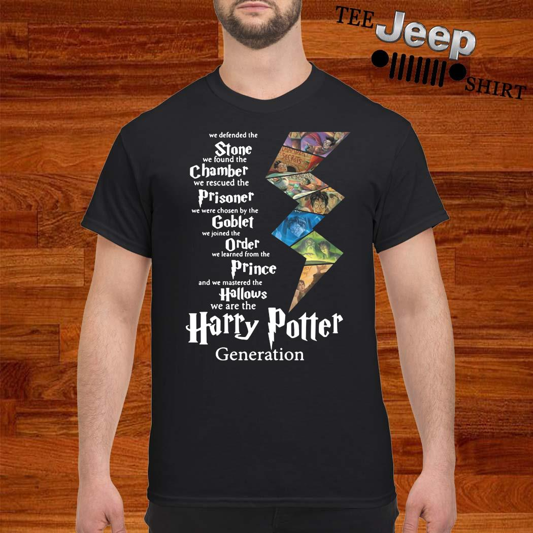 Stone Chamber Prisoner Goblet Order Prince Hallows Harry Potter Generation Shirt