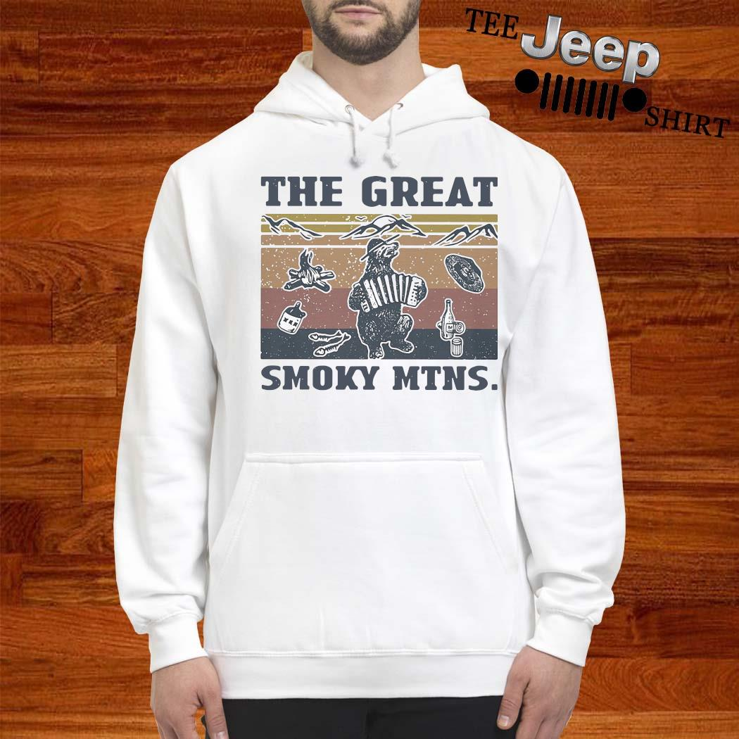 The Great Smoky Mtns Vintage Shirt hoodie