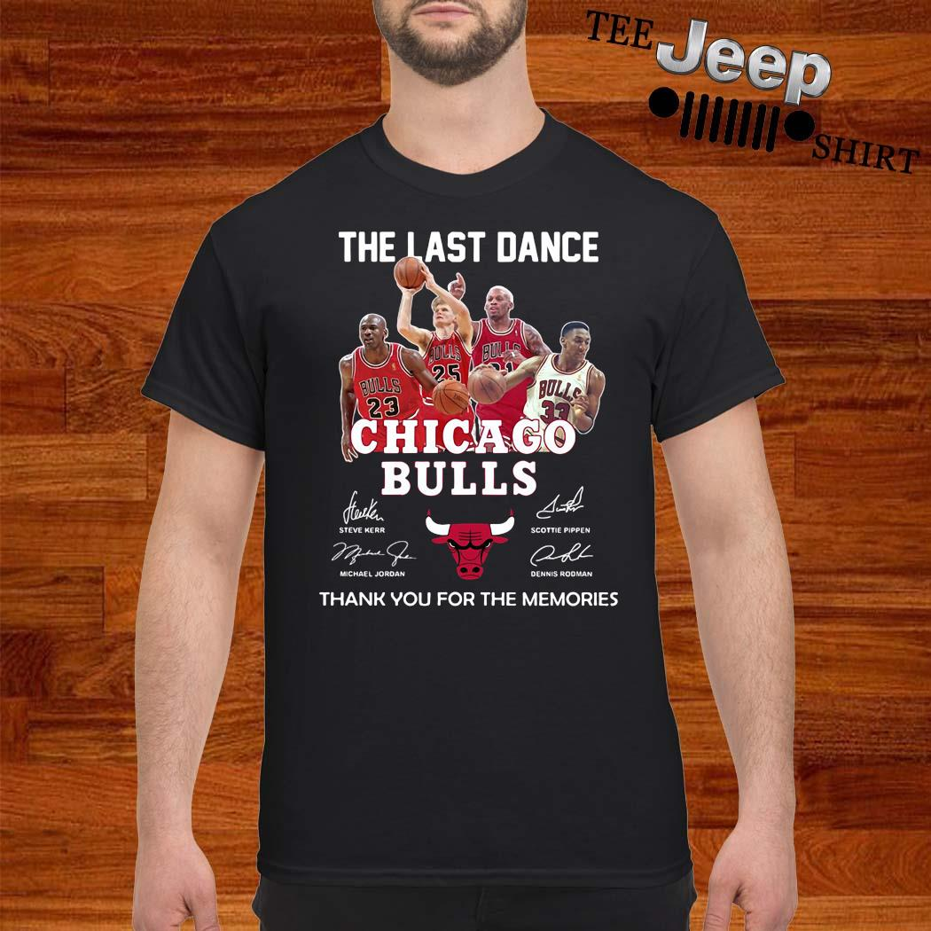 The Last Dance Chicago Bulls Thank You For The Memories Shirt