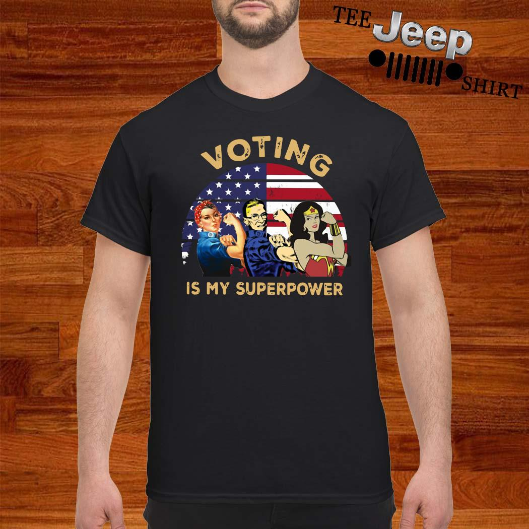 Voting Is My Superpower American Flag Shirt