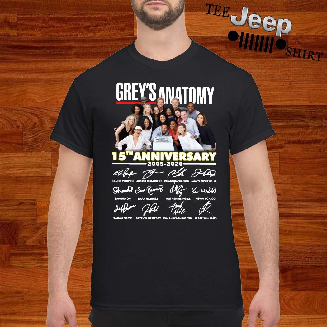Grey's Anatomy 15th Anniversary 2005 2020 Signatures Shirt
