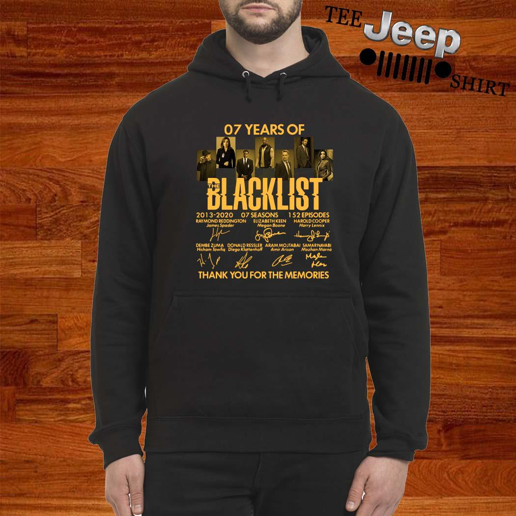 07 Years Of Blacklist 2013 2020 Thank You For The Memories Signatures Shirt hoodie