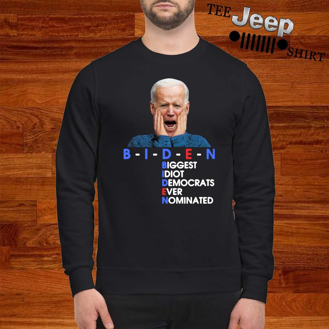 BIDEN Biggest Idiot Democrats Ever Nominated Anti Creepy Joe Shirt sweatshirt