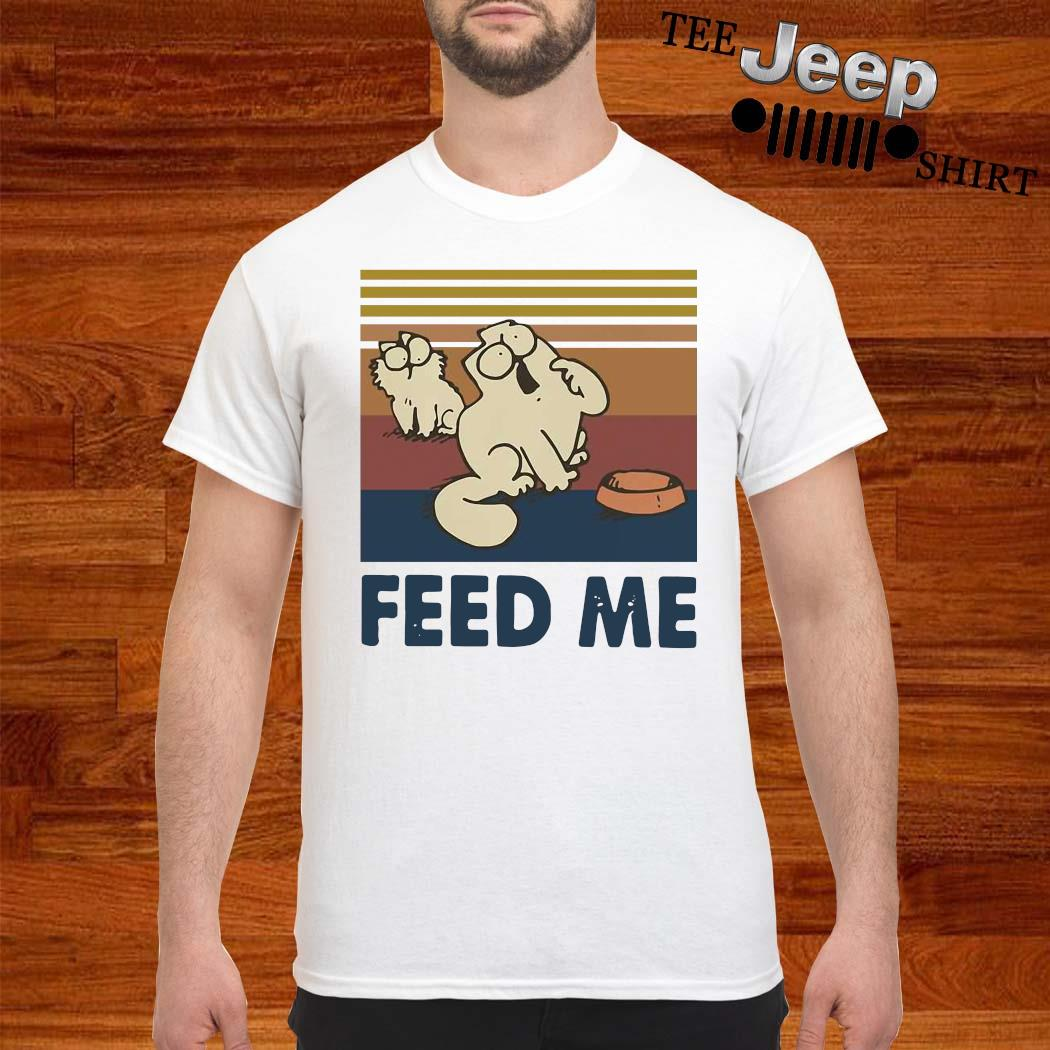 Cat Feed Me Vintage Shirt
