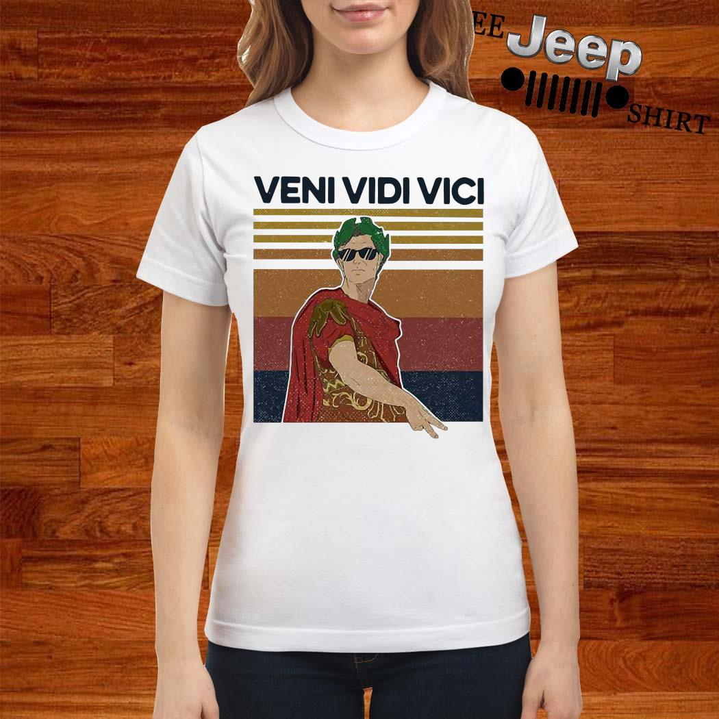 Julius Caesar Quote Veni Vidi Vici Roman Vintage Shirt ladies-shirt