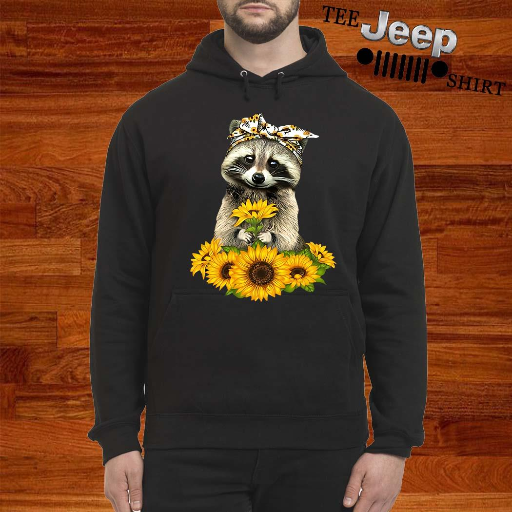 Racoon Sunflower Shirt hoodie