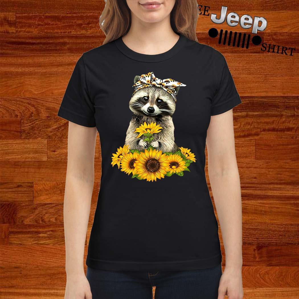 Racoon Sunflower Shirt ladies-shirt
