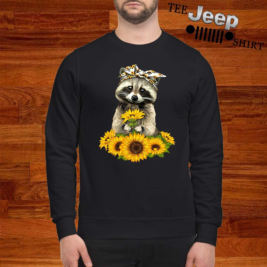 Racoon Sunflower Shirt sweatshirt