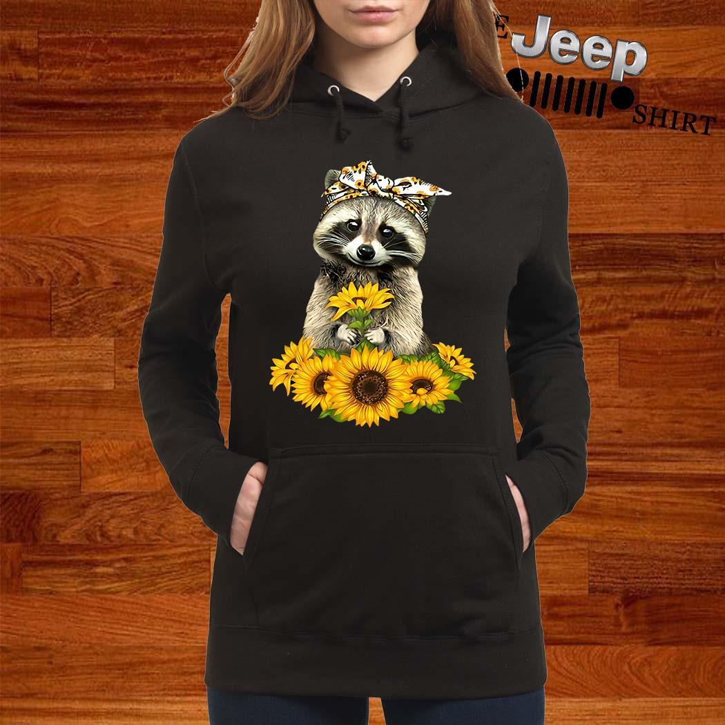 Racoon Sunflower Shirt women-hoodie