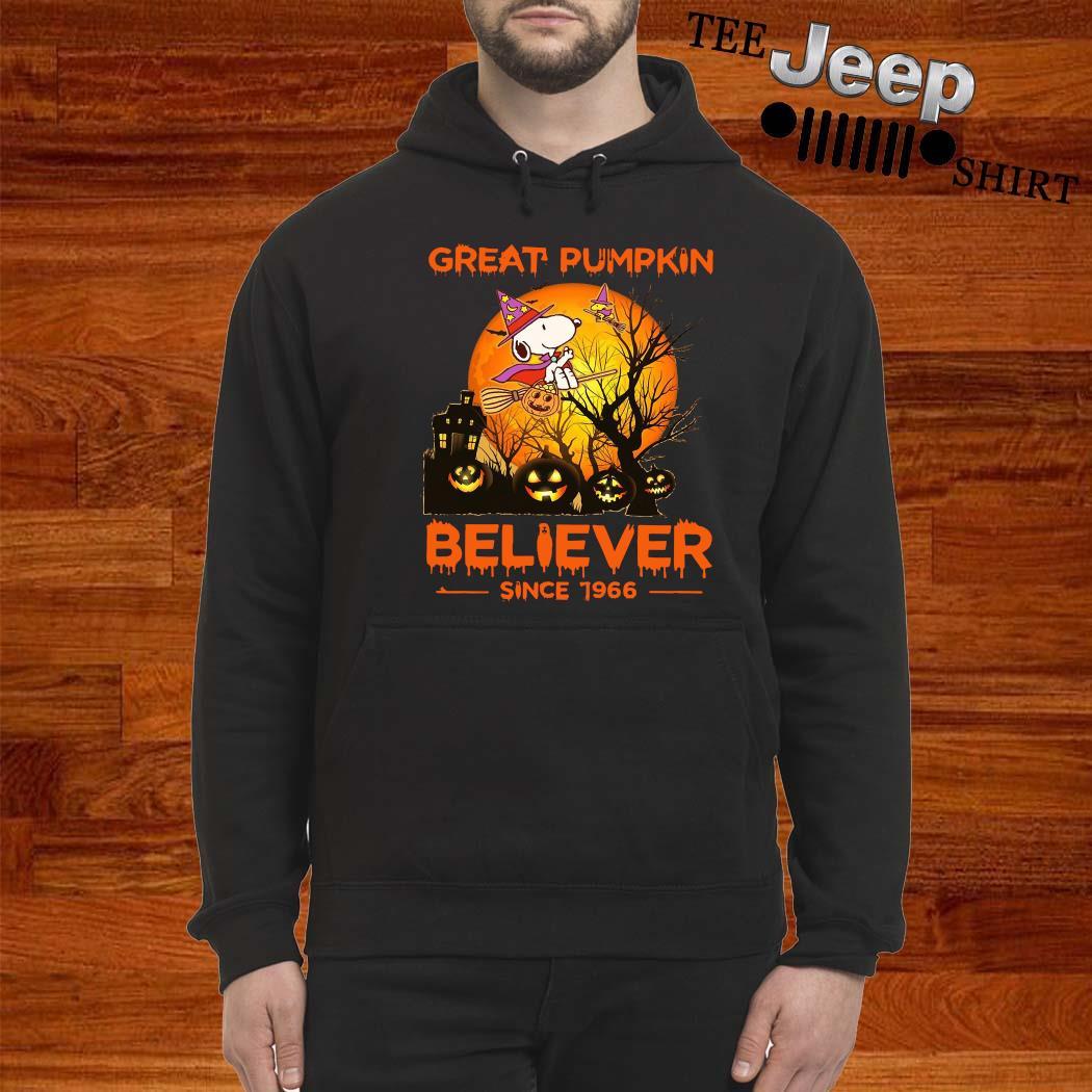 Snoopy Great Pumpkin Believer Since 1966 Shirt hoodie