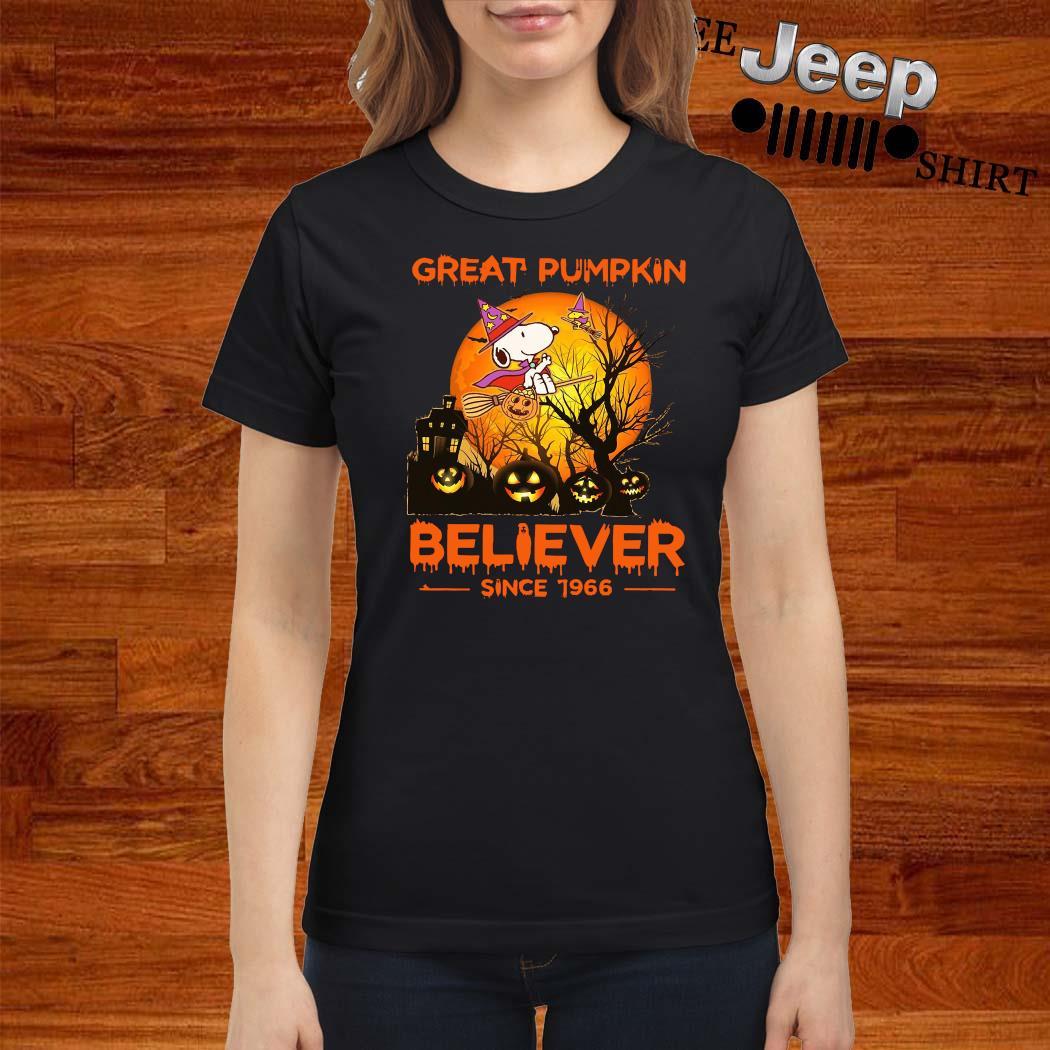 Snoopy Great Pumpkin Believer Since 1966 Shirt ladies-shirt