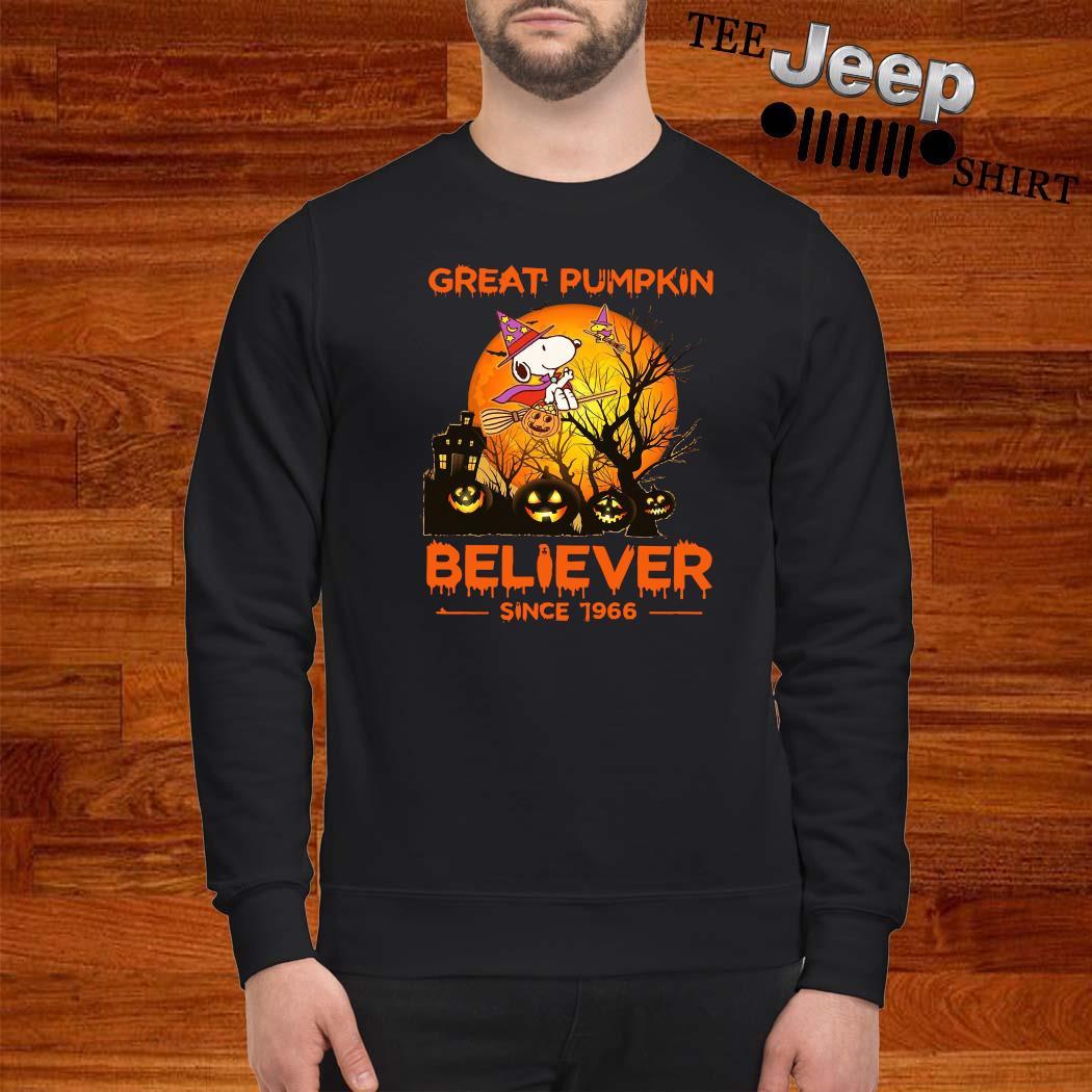 Snoopy Great Pumpkin Believer Since 1966 Shirt sweatshirt