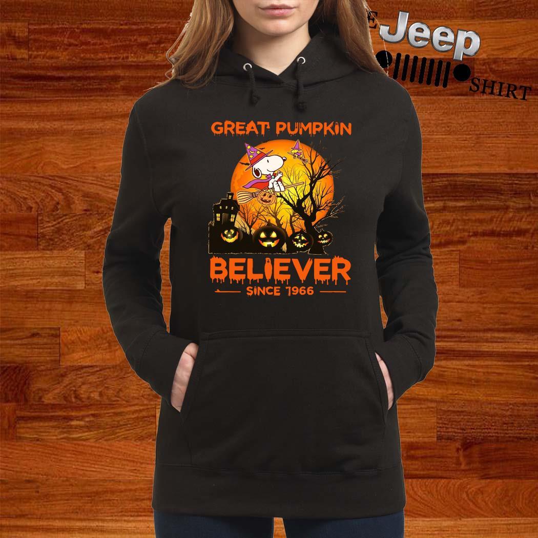 Snoopy Great Pumpkin Believer Since 1966 Shirt women-hoodie