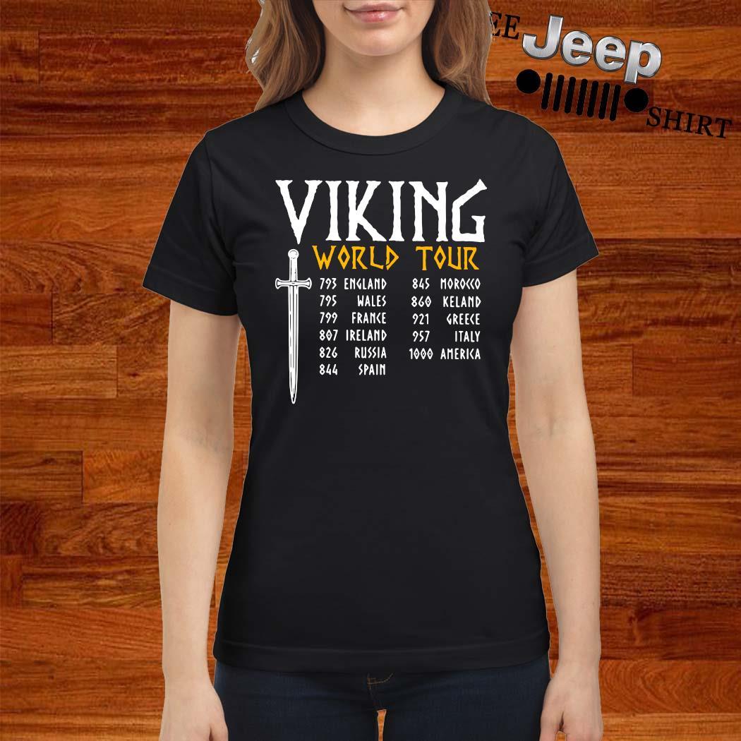Viking World Tour Shirt ladies-shirt